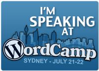 WordCampSydneySpeaker