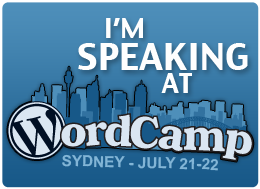 WordCampSydneySpeaker